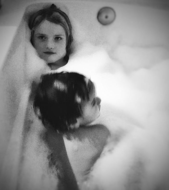 Shades Of Grey Tubbytime Children Photography Tubby  Siblings Bubble Bath Bubblebath  Sister&brother Scrubadubdub Getting Cleaned