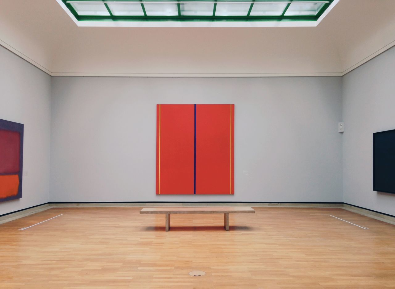 Who's Afraid of Red, Yellow and Blue ♦️//. Red Painting Yellow Blue Monochrome Minimalism Minimal Museum Daylight Indoors  Architecture Day Art ArtWork Creativity Life Collection Modern Colors Artist