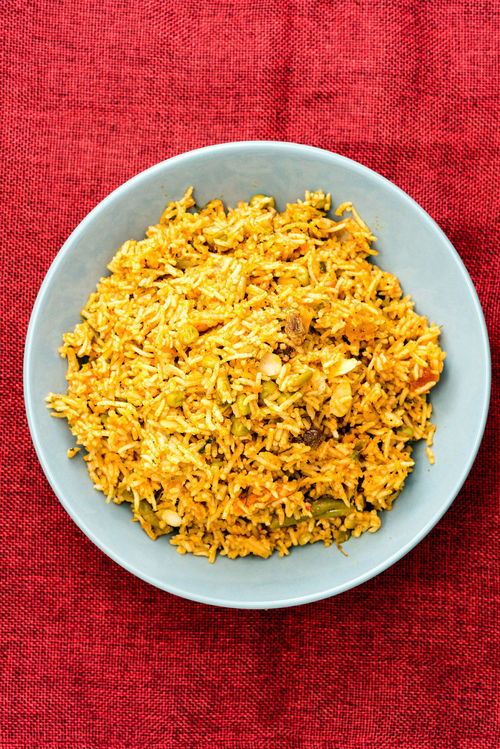 Dinner Lunch Rice Basmati Close-up Day Delicious Directly Above Eating Healthy Food Food And Drink Freshness Healthy Eating Indian Food Indoors  No People Plate Ready-to-eat Red Studio Shot Yellow