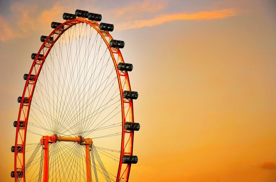 43 Golden Moments Sky Wheel Ferry Wheel Sky Vintage Background Colour Of Life Colour Palette