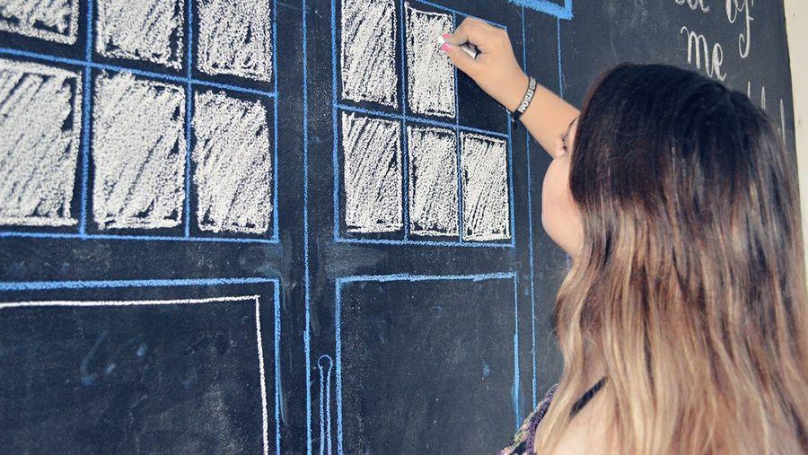 ⏹️ Drawing Tardis Doctor Who
