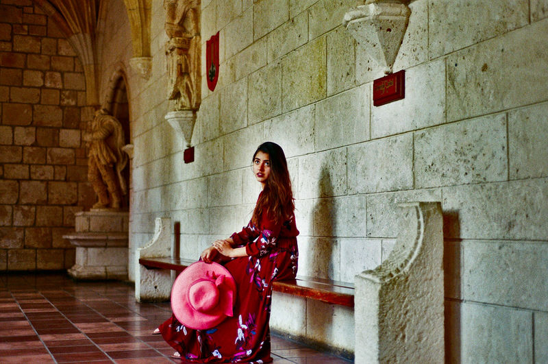 Taken with a Nikkormat FT2 with a Nikkor 50mm f/1.4 Film Film Photography One Person One Woman Only Portrait Architecture Monastery Kodak Nikkormat Nikon Nikkor 50mm F1.4 Unconventional Aesthetic The Portraitist - 2017 EyeEm Awards EyeEmNewHere EyeEm Selects