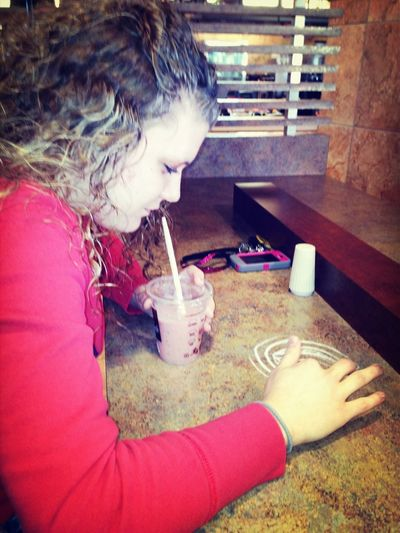 Kaitlyn Playing With Salt