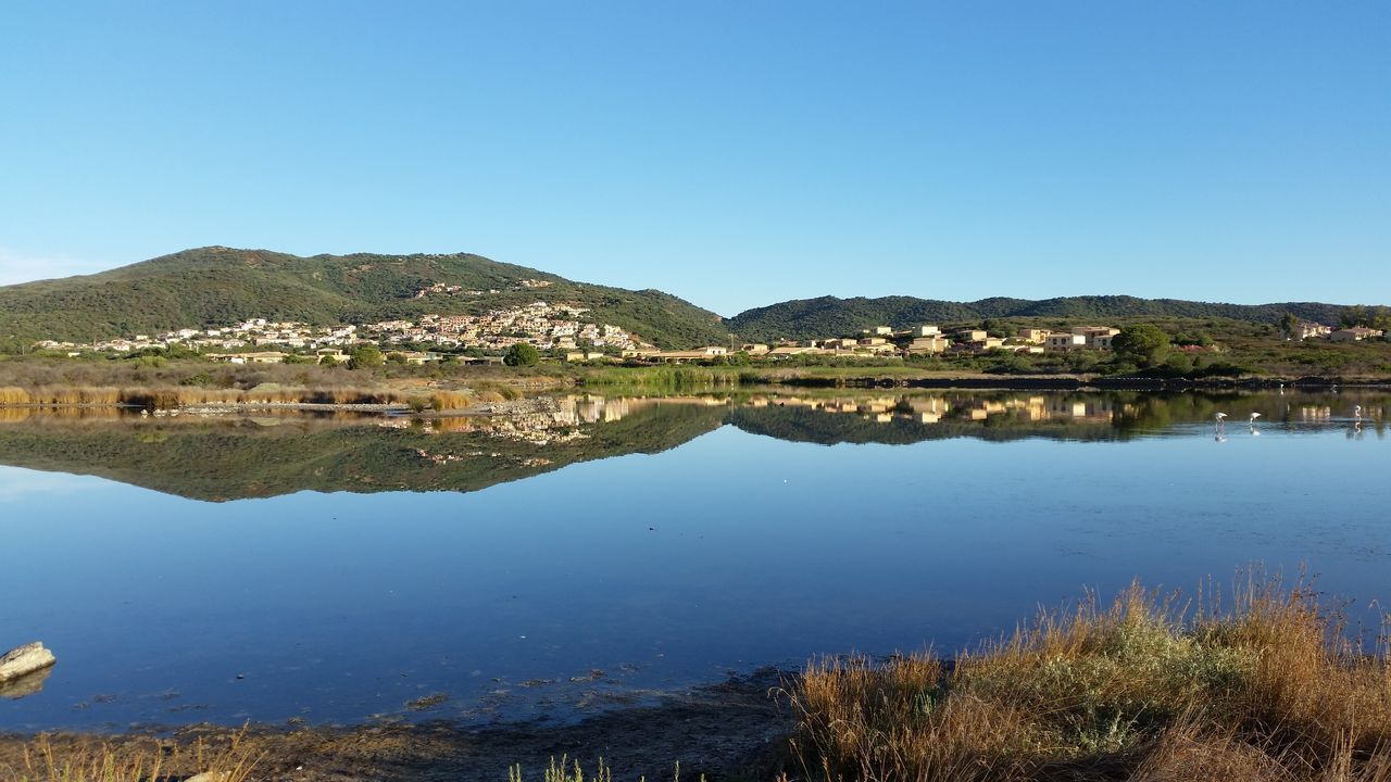 Mirroring Mirroring In Water Lake View Mediterranean Nature Blue Water Blue Sky Blue Sky Sardinia Sardegna Italy  Italy❤️ Flamingo Mountain Biking Italian Landscape Travel