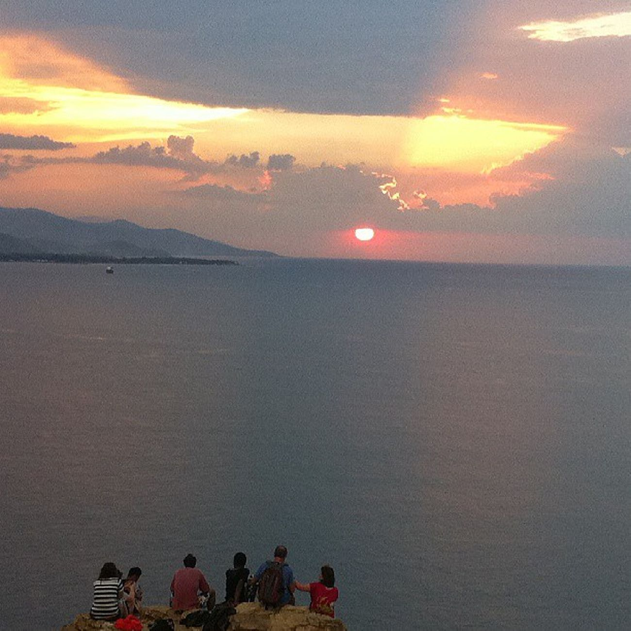 Group of people enjoying Lovely Sunset from Cristurei @ Easttimor