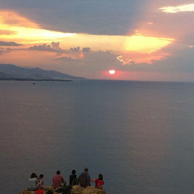 Group of people enjoying Lovely Sunset from Cristurei @ Easttimor