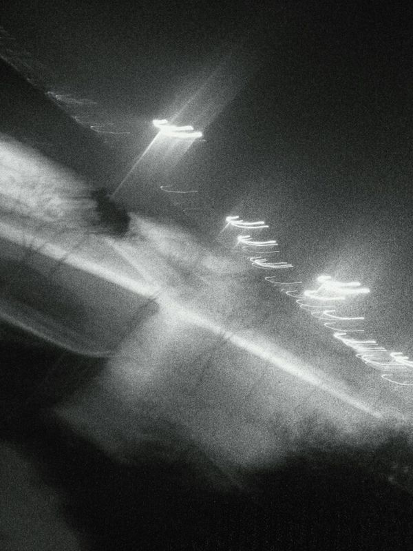 Dream... streetphoto_bw eye4photography  bw_collection abstract night Dreaming blackandwhite black and white Night Lights seaside Black & White by Sinemis Koç
