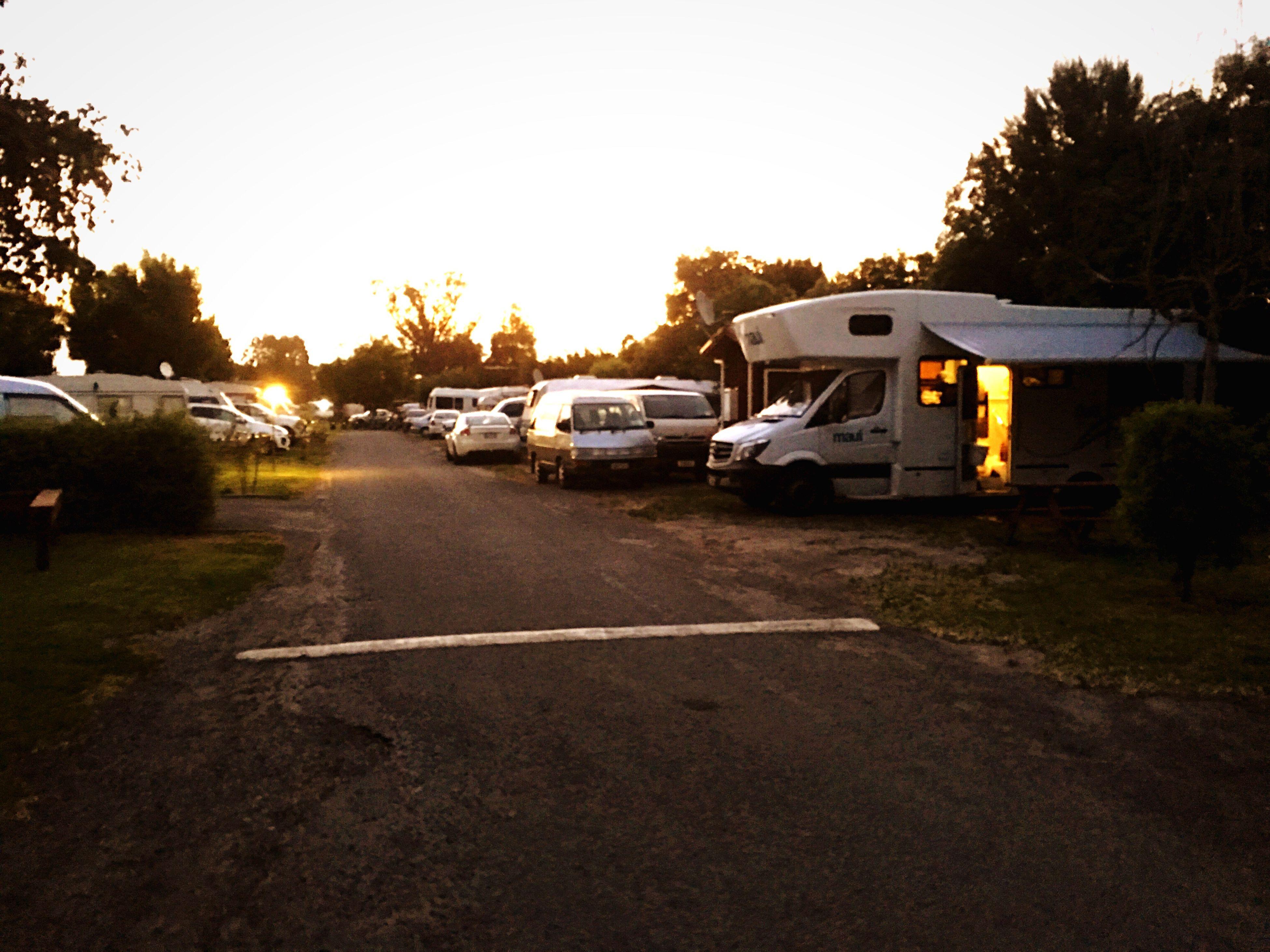 Caravans Car Travel Outdoors Motorhomes Sunset Newzealand First Eyeem Photo