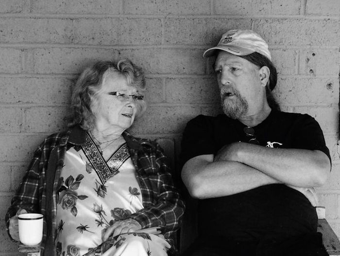 Untold Stories Mom, 89, and son catching up. So much unseen heartbreak yet the bond endures... RePicture Motherhood Methow Valley Mother And Son Family Matters Women Who Inspire You Portraitist-2016 Eyeem Awards