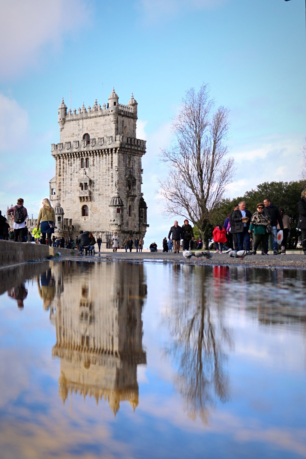 Adult Adults Only Architecture Belem Tower Belém Building Exterior City Clear Sky Day EyeEm Best Shots History Large Group Of People Nature Outdoors People Reflection Sky Statue Streetphotography Taking Photos Travel Destinations Tree Water Water Reflections