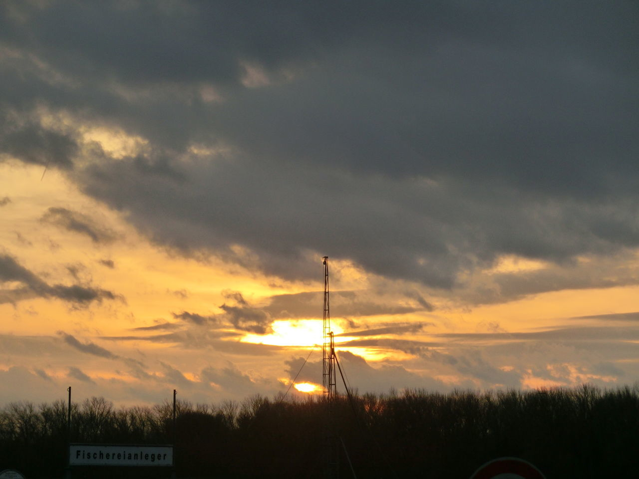 sunset, sky, cloud - sky, no people, tranquility, scenics, silhouette, nature, outdoors, beauty in nature, tree, architecture, day, windmill, industrial windmill