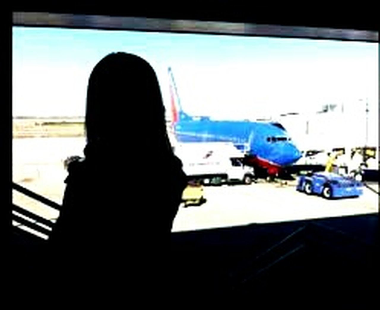 silhouette, indoors, transportation, airport, adult, one person, one woman only, working, adults only, people, day, city, only women, sky