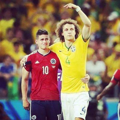 Jamesrodriguez Davidluiz  Thebest Colombia brasiliaworldcup