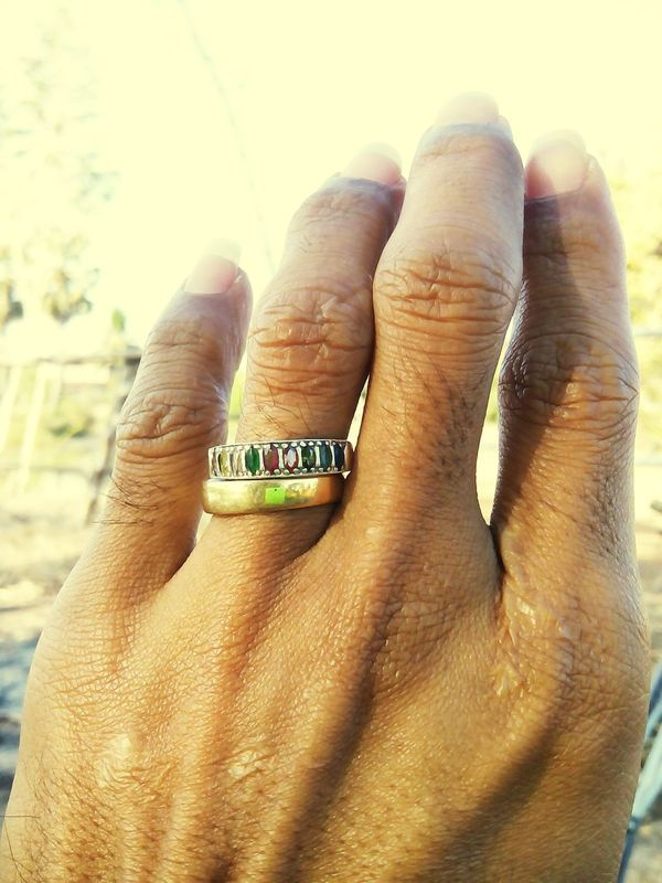 My hand and my ring