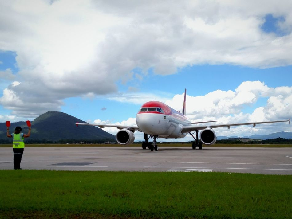Airport Airplane Commercial Airplane Outdoors Travel Day Working Florianópolis - SC Cloud - Sky Airbus Avianca