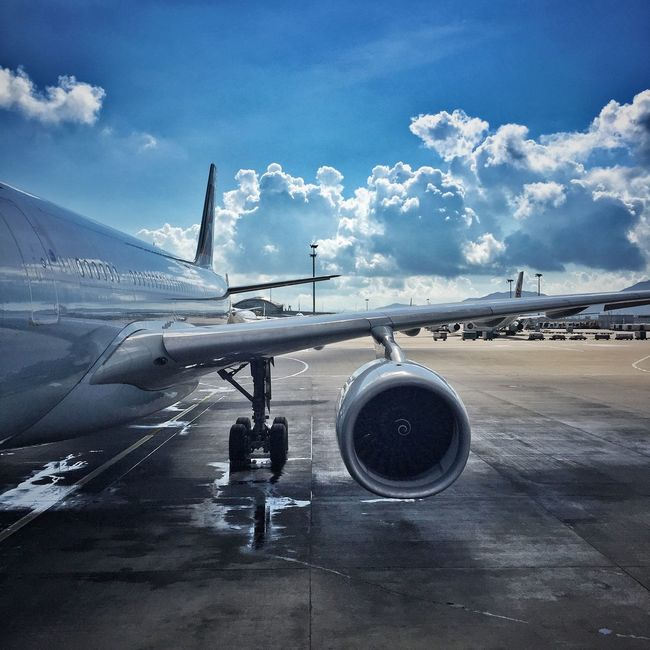 Cathay Pacific Cx Airplane Airport HKIA