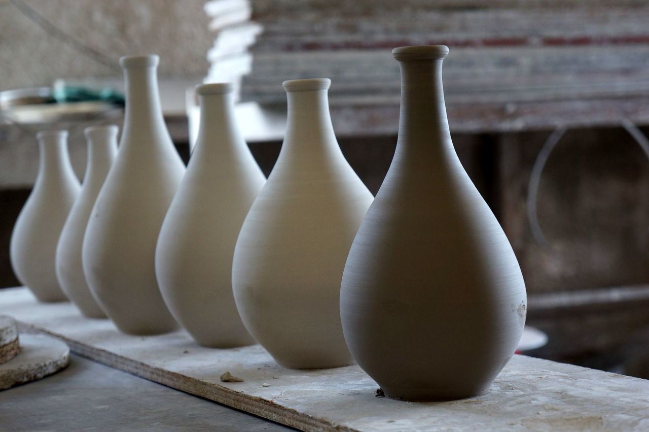 Vase Craftsmanship  Crafts No People Craft Handmade Fresh Pottery Close-up Clay Delicate Indoors  Retail  Ceramics Retail  Indoors  Craftsmanship  Vases