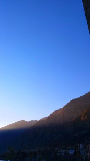 Blue Mountain Sky No People Clear Sky Mountain Range Nature Outdoors Landscape Scenics Tree Beauty In Nature Day Star - Space Astronomy