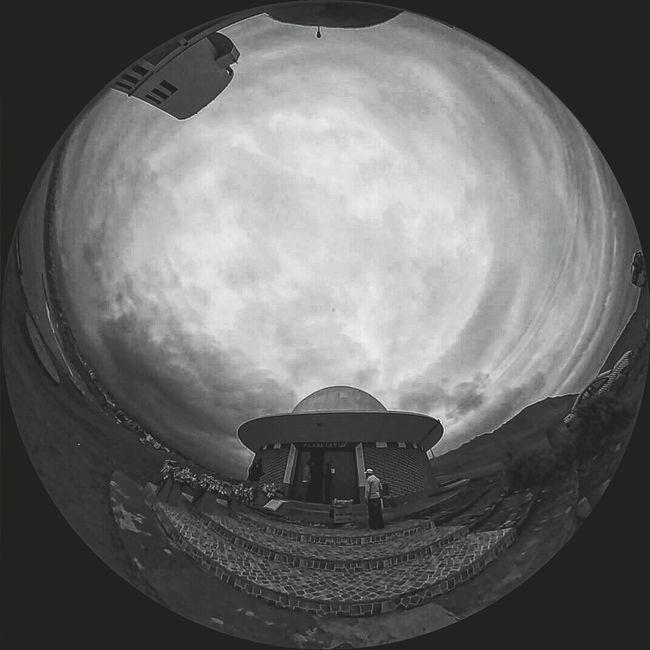 Planetario De Lima Fulldome Blackandwhite
