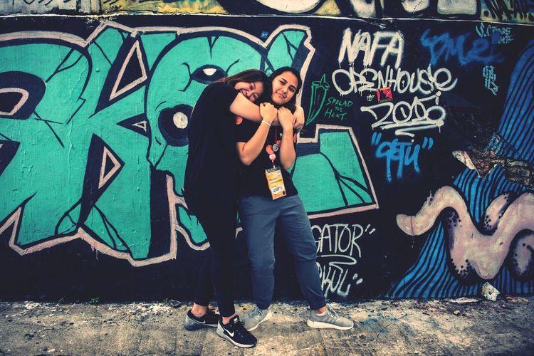 Only Women Nafa Two People Archival Adult People Hug Friendship Friend Art Streetphotography Street Art/Graffiti