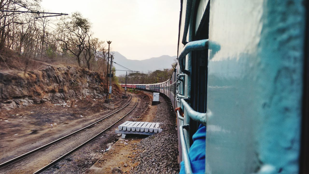 View Of Train From Window