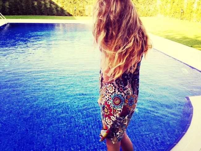 Blonde Hair Swimming Pool
