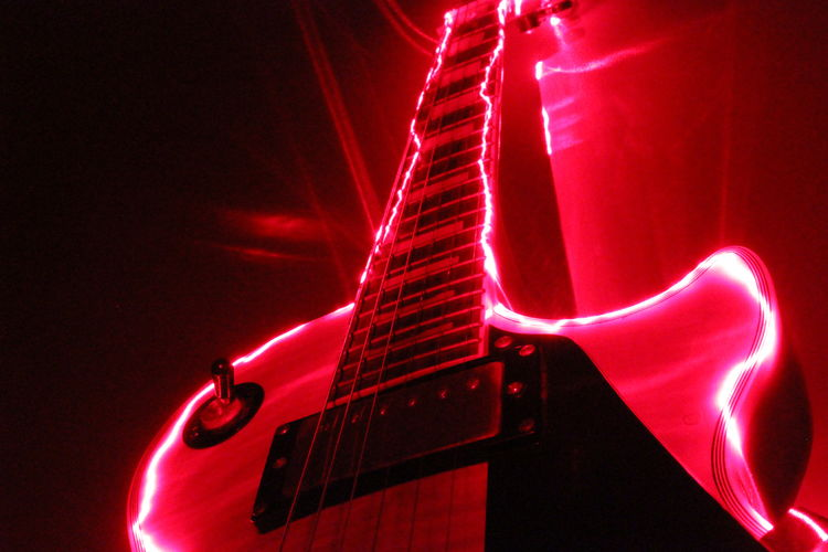 Energy Gibson Les Paul Guitar Light Light And Shadow Light Painting Lightpainting Low Angle