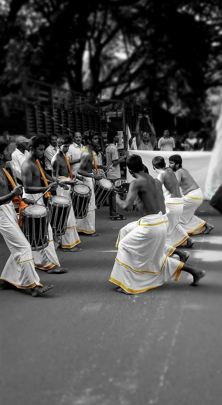 The vibe of those beats.... Festival Dance Photography EyeEm Best Shots Tradition Streetphotography Bangalore India Edits Selective Color Up Close Street Photography Great Outdoors With Adobe Eyeemphoto Myyearmyview My Year My View People Outdoors Selective