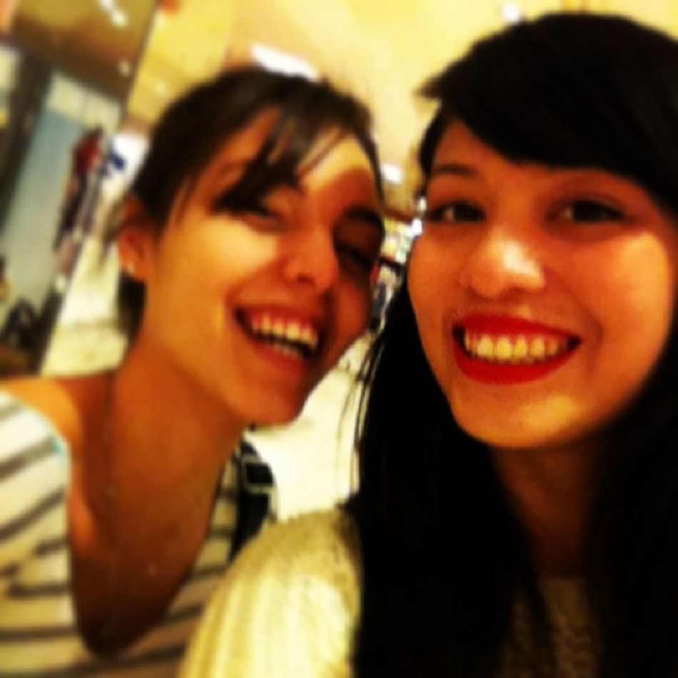 Had so much fun today with the sister Magy ?? Sistersforever Saturdaynight Mall Bandshow smile