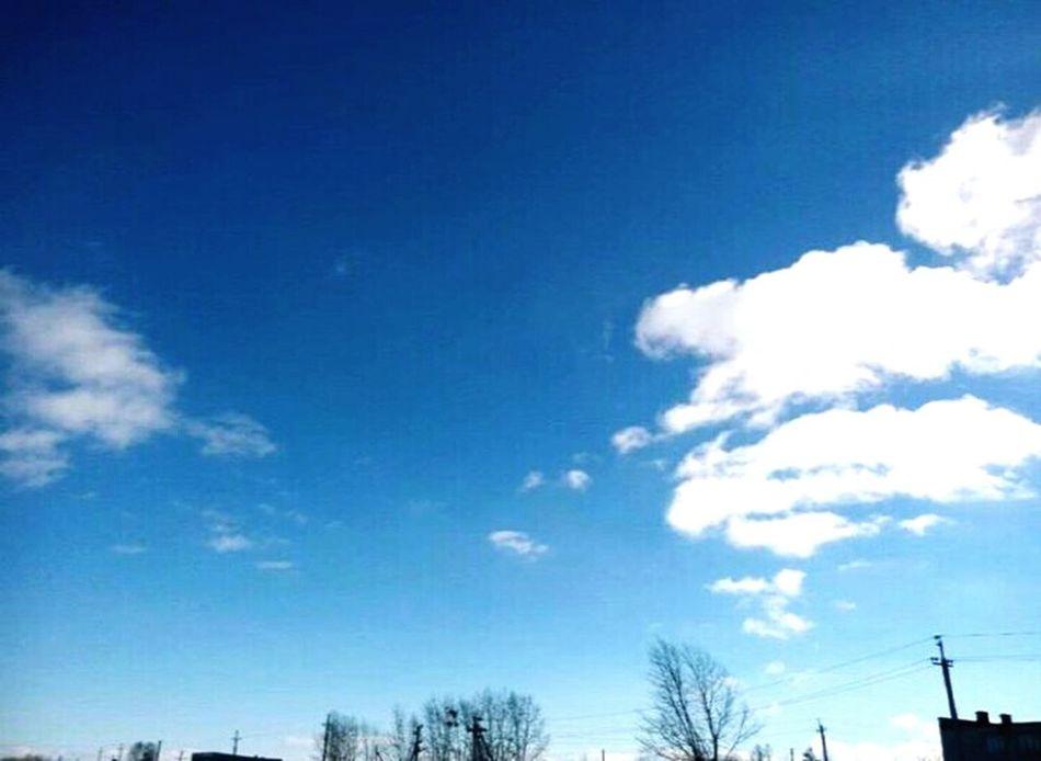 Sky Blue Nature Day небо⛅️ облака голубое небо март