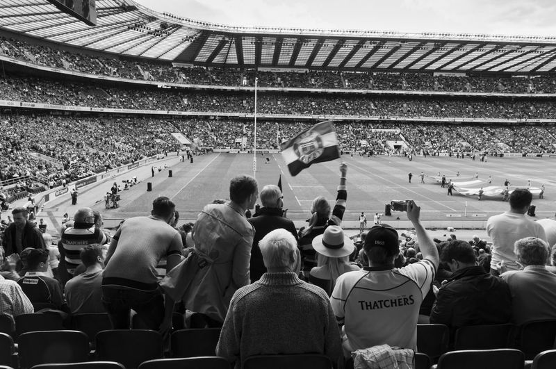 Bath v Saracens. Rugby Final 2015 Streetphotography Streetphoto_bw Streetphotography_bw Streetphoto Street Photography Monochrome Blackandwhite Black & White Rugby Sport