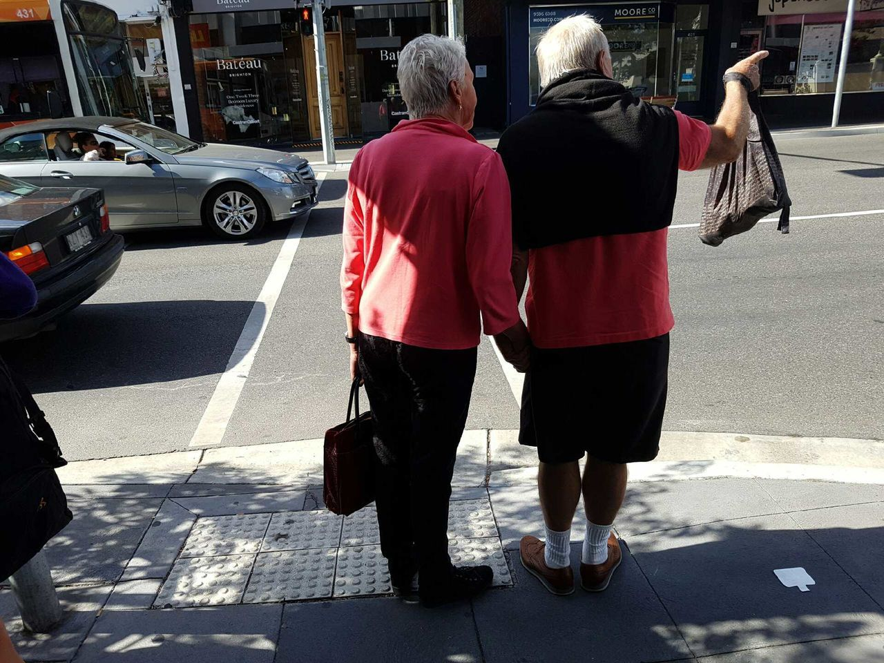 Rear View Two People Real People Adults Only Outdoors People Adult Day Togetherness Couple Couples Relationship Couple In Love Teamwork Tourists Couples In Love Couple Cuteness Man And Woman Matchingshirts Matching Shirts! Matchingcolors Matching Coupleselfie Couplesweekend Coupletravels