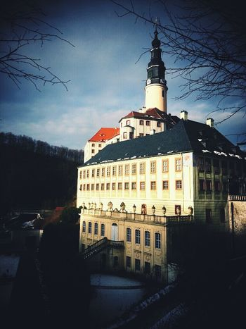 Schloss Weesenstein Saxony Winter Castle