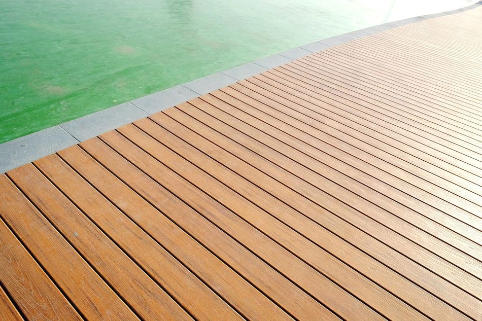 Wood - Material Pattern Deck Separation Lines And Curves