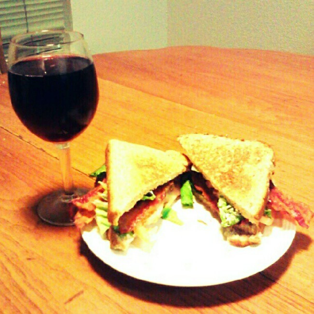 #blt and a glass of #wine for dinner. #foodie #food #winesnob #simple Dinner Food Wine Foodie Simple BLT Winesnob Nylonsnack
