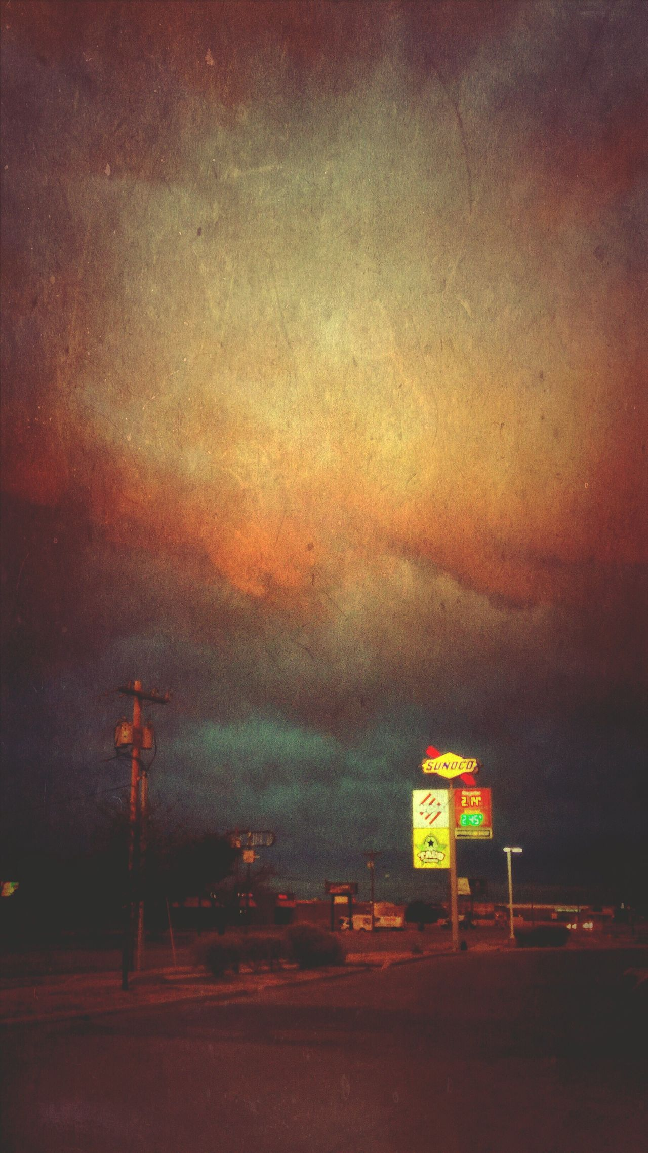 Night IPhoneography Sunset Cloud - Sky Nature Neon Sign Sky Clouds Vintage Landscape