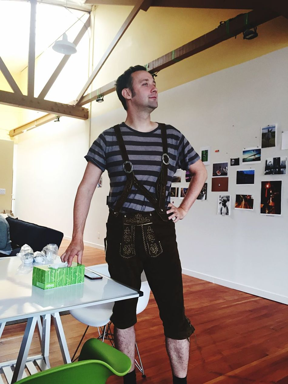 When your CPO is wearing lederhosen when you come into the office.