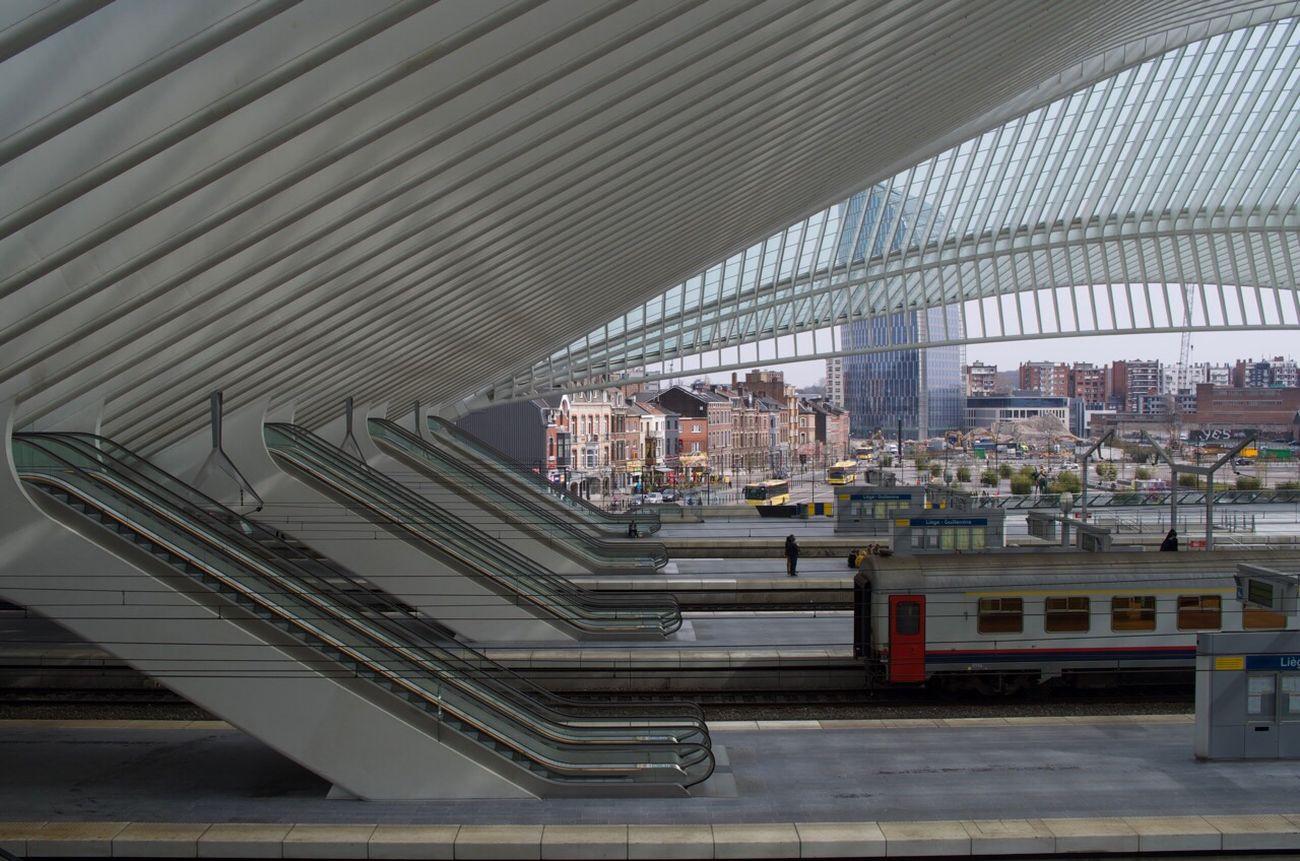 Escalators Gare De Guillemins Liège-guillemins Liège Belgium Pentax Architecture