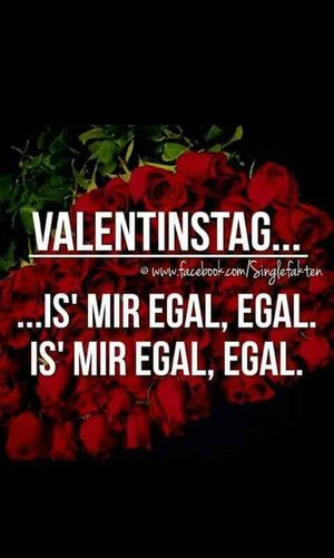 Is' mir egaaaal, egaaal. Egal Valentinesday Single Life  Unnötig
