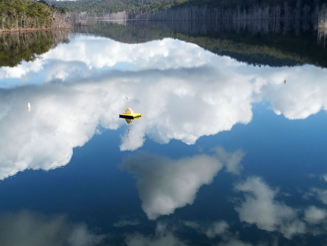The upper intake of the Hinze dam on the Gold Coast Australia. Beauty In Nature Cloud - Sky Day Nature No People Outdoors Reflection Scenics Sky Tranquil Scene Tranquility Water
