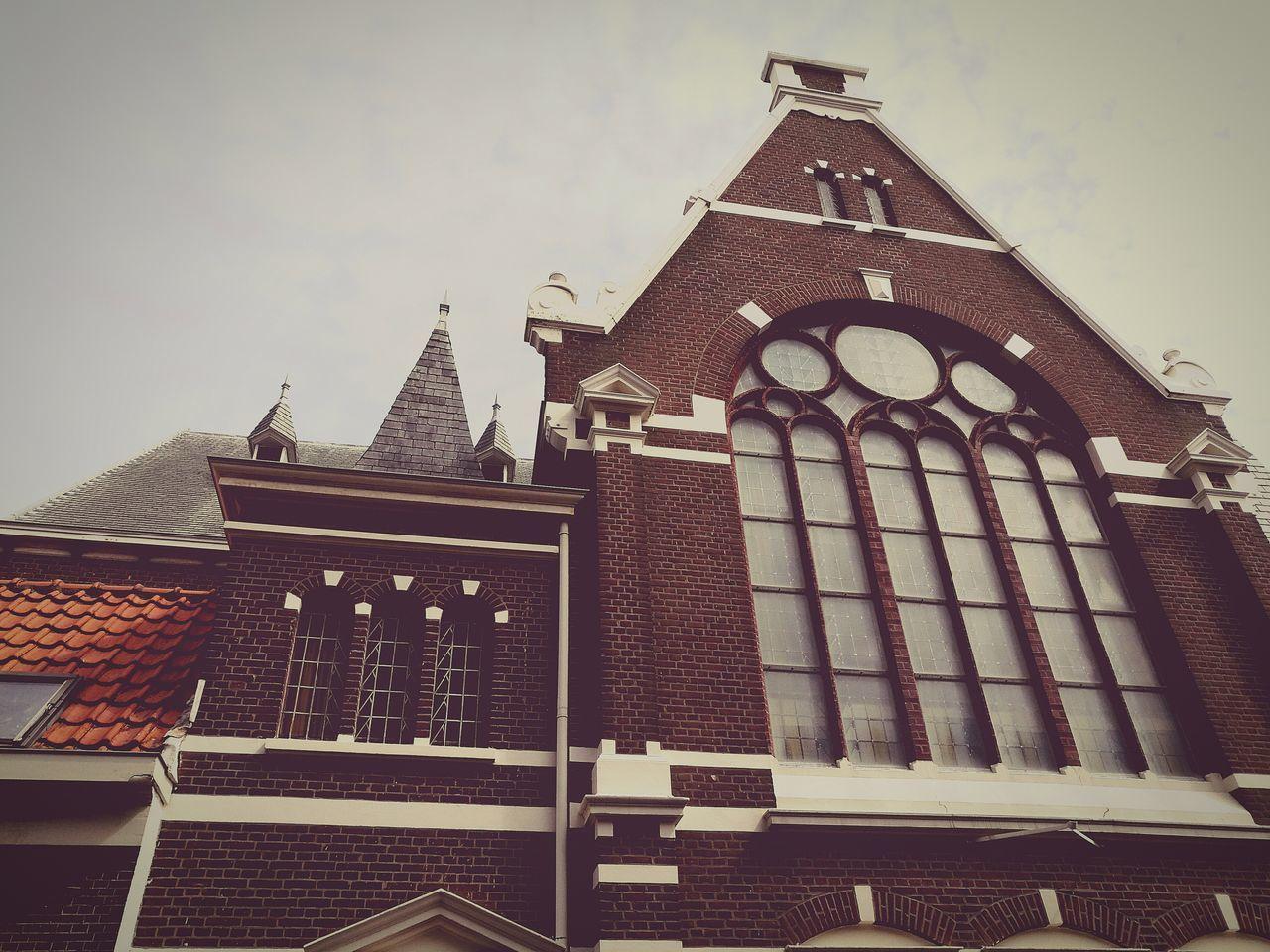 Little Church Scheveningen  Narrow Street Hideaway Holland Protestant Believe Architecture Daylight