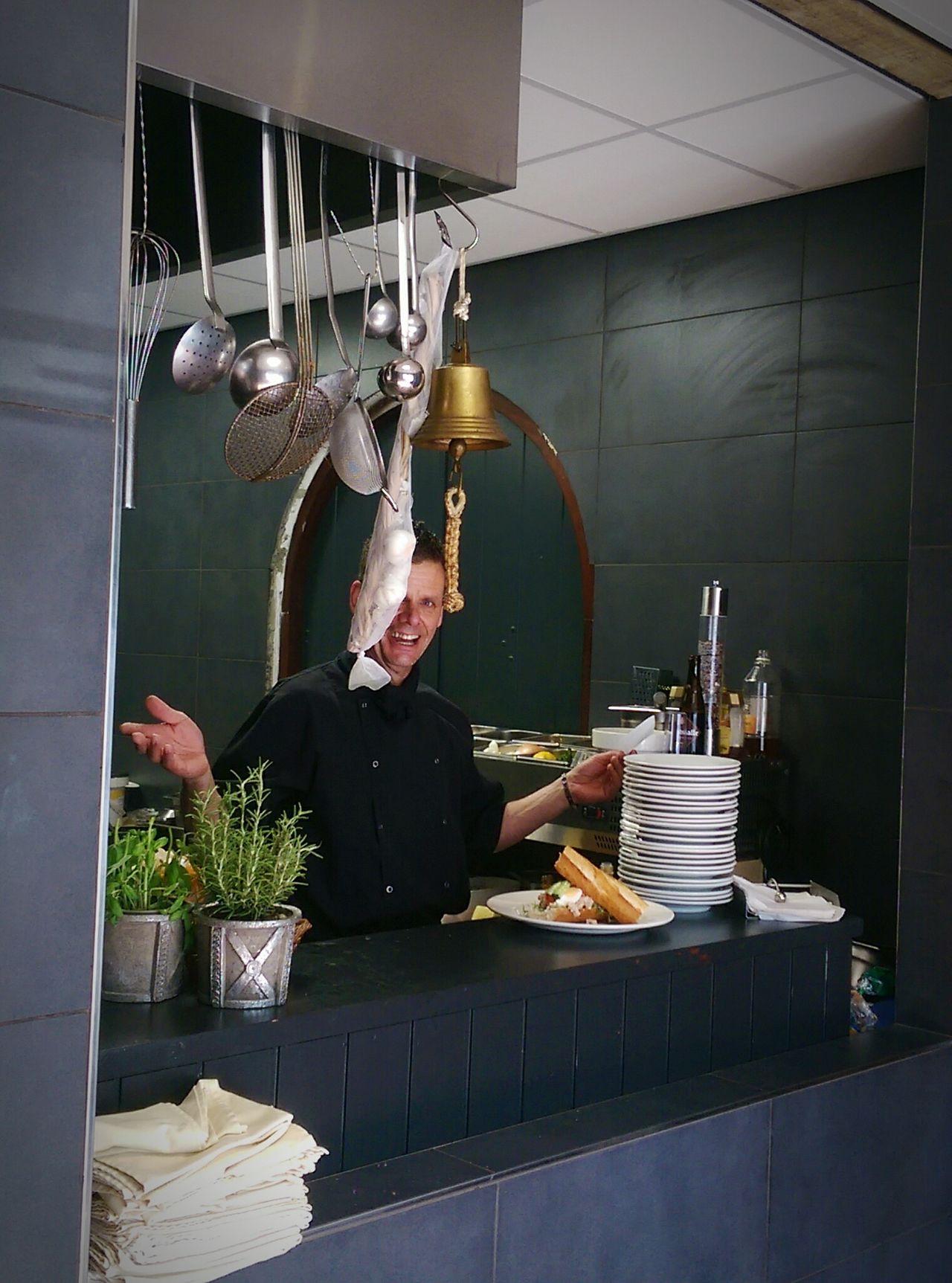 KitchenBoss In The Job cook Fresh Produce Loving His Job!! Restaurant/ partycentrum De sluis ,Weert
