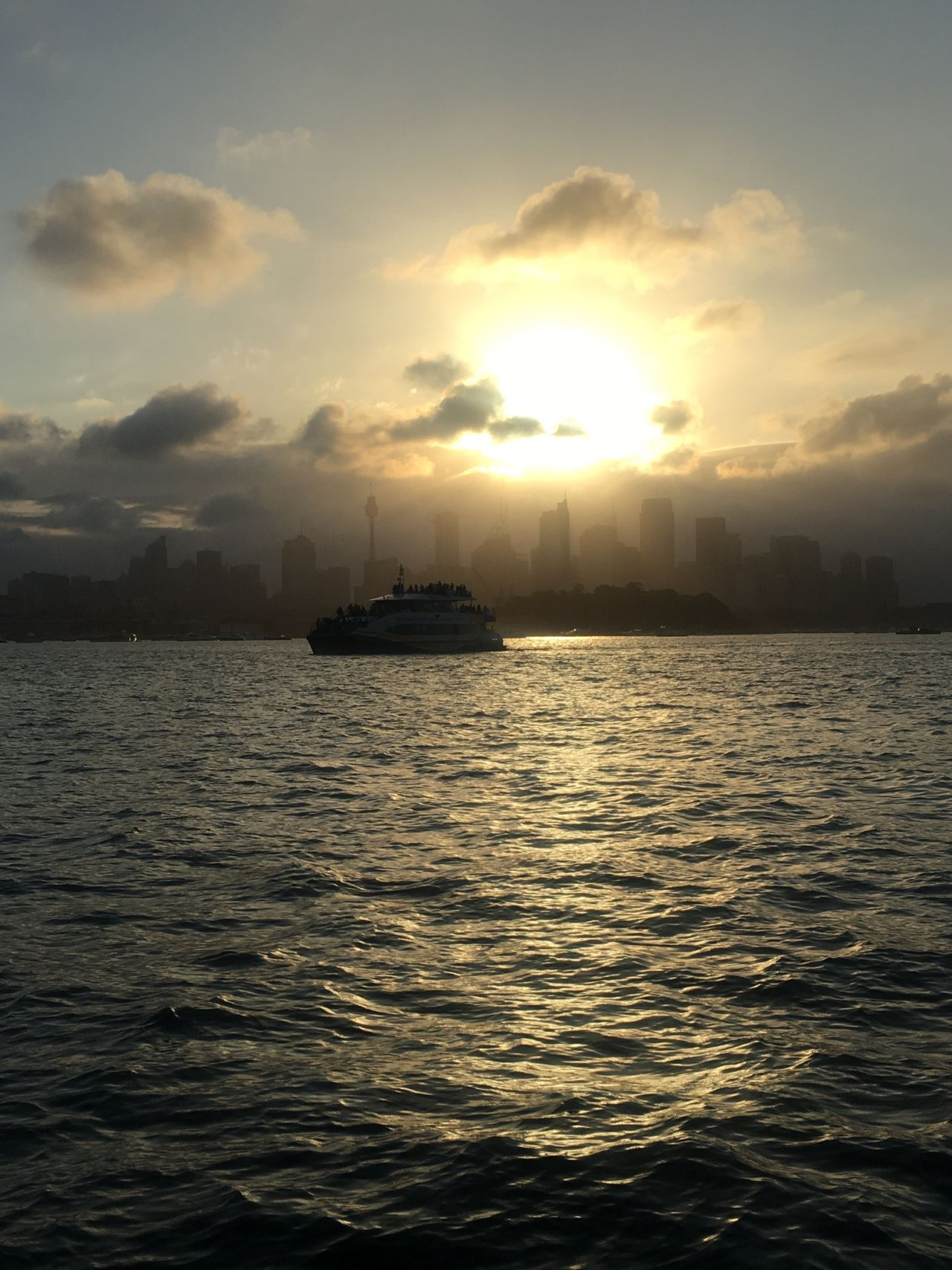 Water Sunset Sky Sea Nature Beauty In Nature Nautical Vessel Sun No People Waterfront Scenics Transportation Rippled Cloud - Sky Outdoors Tranquility Day Sydney, Australia NYE Skyline