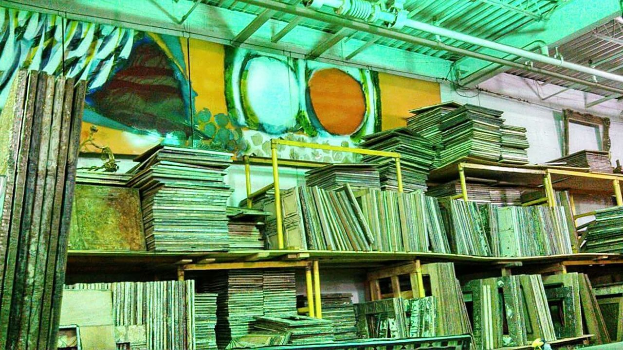 Showcase April Storage Room Abandoned Art Neon Green Designs And Lines Industrialbeauty Picture Frame Ye Old Things No People Beautifully Organized Manmadestructures Interior Architecture Adapted To The City The Secret Spaces
