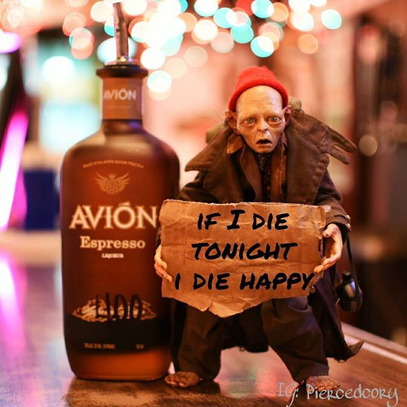 Espresso tequila!!l?! Are you kidding me! Drunktoys Smeagol Neca Aviontequila