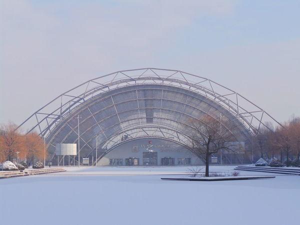 Architecture Architektur Exhibition Hall Fair Fair Hall Germany Leipzig Messe Messehalle Sachsen Schnee Snow Stahl Steel Winter
