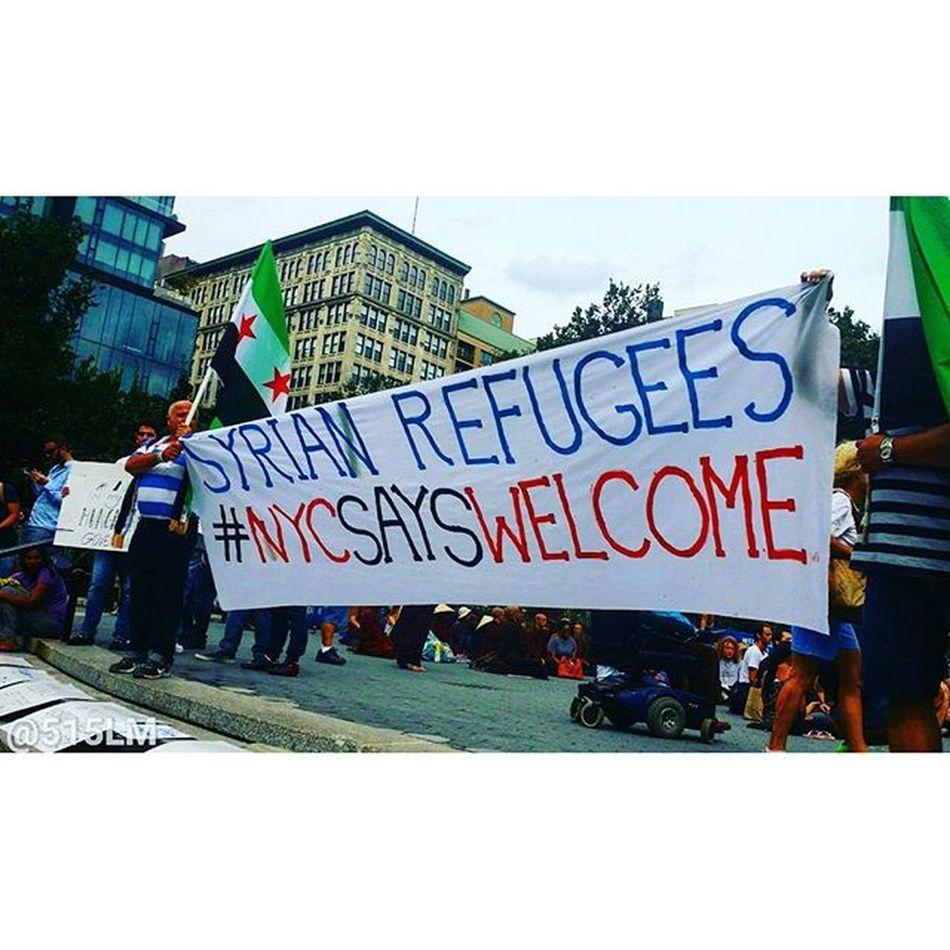 Syrianrefugees NYCsaysWelcome