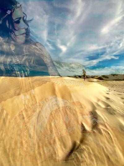 Rachel_g_onbass Dunes Boho Musician Atxphotography Nature JournalismPhotography Sunlight Mashup