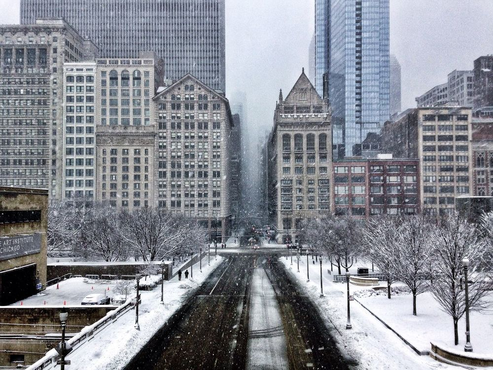 5th snowiest winter storm in Chicago's history. Snow Blizzard 2015 Winter Architecture Check This Out AMPt_community Chicago