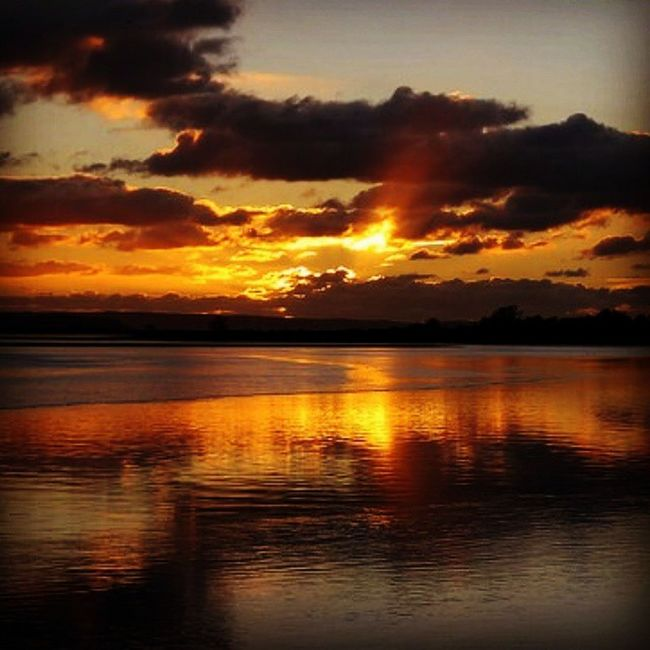 """Golden Reflections"" Sunset Rivertaw Braunton Devon Dusk Reflections Sky Skyscene Winterscene Winter Clouds Cloudporn Goldenhour"